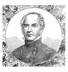 colonel edward dickinson baker vintage vector image