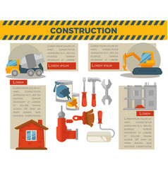 construction and building infographics vector image