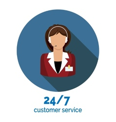 customer service flat icon vector image