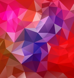 dark red polygon triangular pattern background vector image