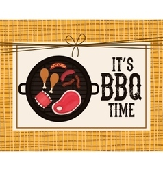 Delicious barbecue design vector