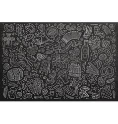 doodle cartoon set oktoberfest objects vector image
