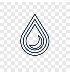 drop concept linear icon isolated on transparent vector image