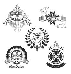 Easter sale spring season special offer symbol vector
