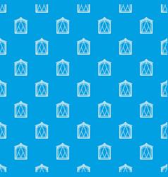 Fairy window frame pattern seamless blue vector