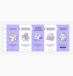 Family medicine onboarding template vector