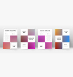 Flyer layout business pleasant template for broch vector