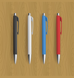 four realistic pen for identity design vector image
