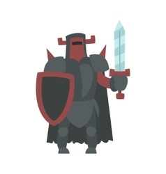 German Strong Knight With Sword And Shield Fairy vector