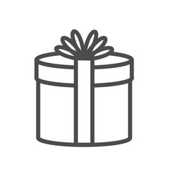 gift icon on white background e vector image