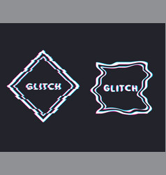 glitch square banner vector image