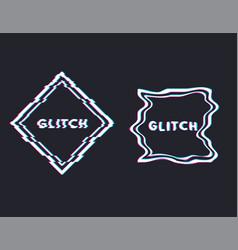 Glitch square banner vector