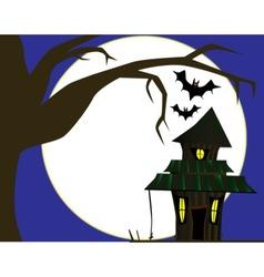 Halloween Cottage vector