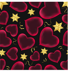 hearts seamless pattern wrapping paper design vector image