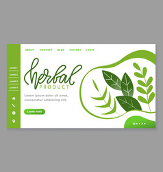 Herbal product website about healthy lifestyle vector