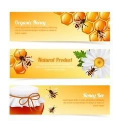 Honey bee banners vector