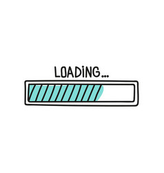 loading bar doodle icon vector image