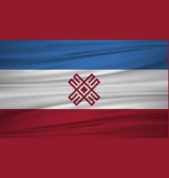 Mari flag flag of mari blowig in the wind eps 10 vector