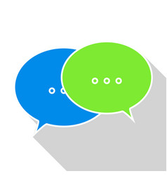 Message icon on white background vector