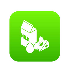 milk product icon green vector image