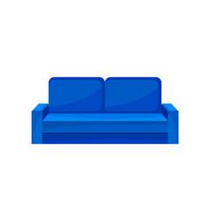 modern blue sofa living room furniture interior vector image
