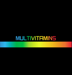 multivitamin label inspiration banner vitamins vector image