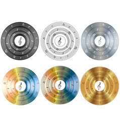 Musical disk vector