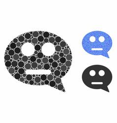 Neutral smiley message composition icon circles vector