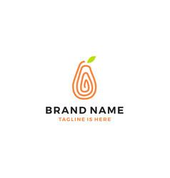 Papaya logo template fruit icon vector