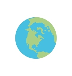 Planet sphere earth global icon graphic vector