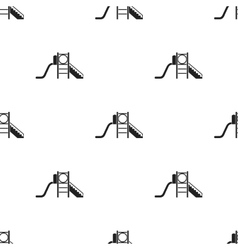 Playground slide icon in black style isolated on vector image