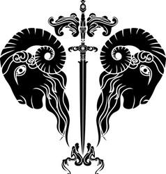 Ram sword vector