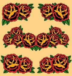 Roses frame vector image