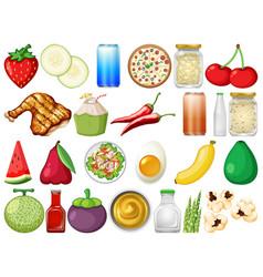 Set delicious food vector