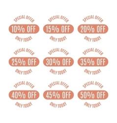 Set of discount labels vector image