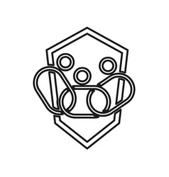 Shield chain people commitment teamwork together vector