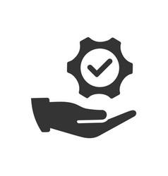 Solution service icon vector