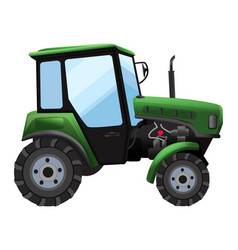 tractor green tractor in a vector image
