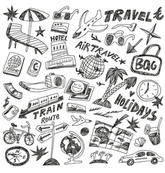 Travel doodles vector