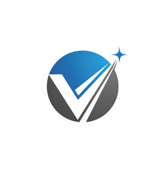 V letter logo template design vector