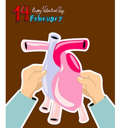 Valentines Day greeting February 14th vector
