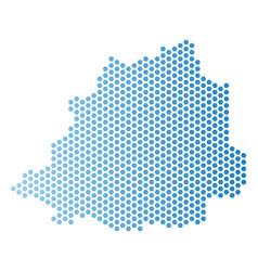 Vatican map hex tile scheme vector