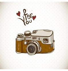 Vintage Card with Retro Camera vector