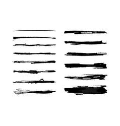 Watercolor strike brushes set vector