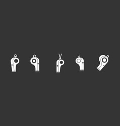 whistle icon set grey vector image