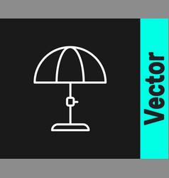 white line sun protective umbrella for beach icon vector image
