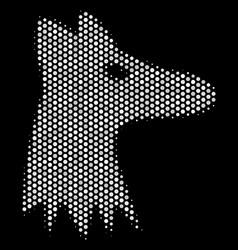 White pixelated fox head icon vector
