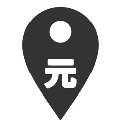 Yuan Map Marker Flat Icon vector