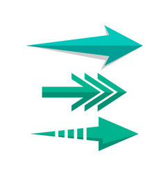 arrow pointers web set in flat style vector image vector image