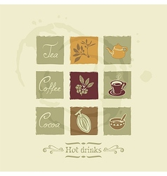 Beverages elements set vector image vector image